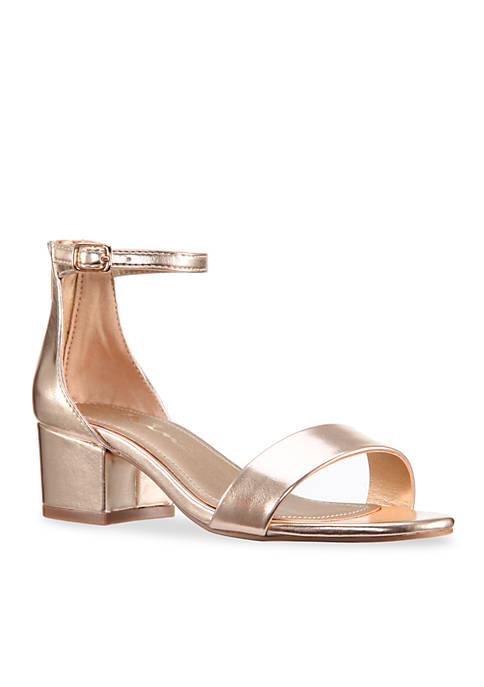 Nina Hidi Back Zip Ankle Strap Heel