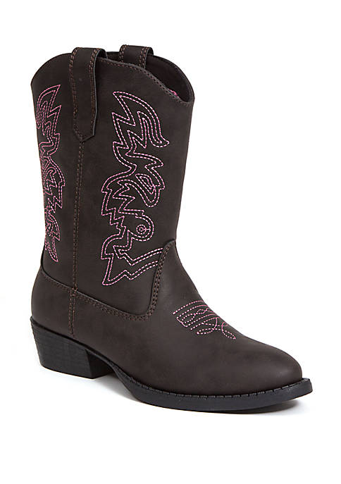 Deer Stags Youth Girls Ranch Western Boots
