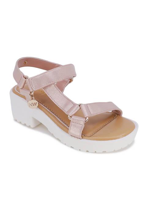 Big Girls Star Strappy Sandals