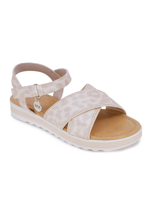 Juicy Couture Big Girls Stella Criss Cross Sandals