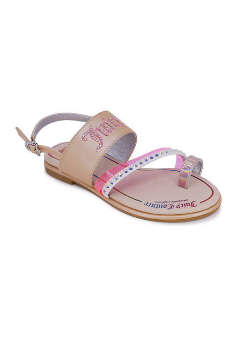 Juicy Couture Big Girls Concord Toe Ring Sandals