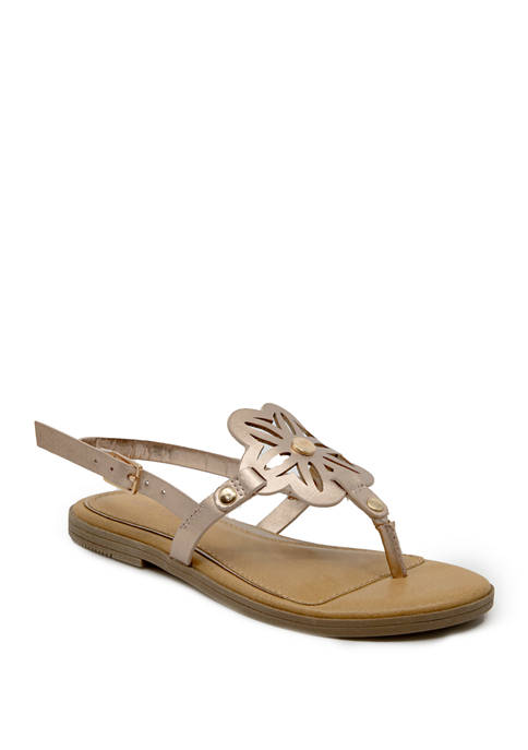 Nine West Toddler Girls Lil Ray Thong Sandals