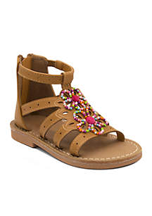 Toddler Girls Daisy Flower Bead Sandals