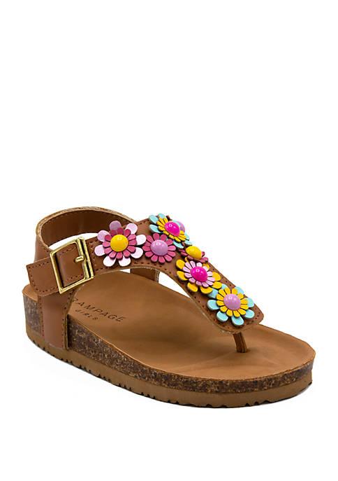 Toddler Girls Lil Zoey Footbed Sandals