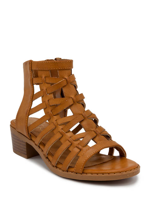 ABS Youth Girls Bread Pudding Heeled Sandals