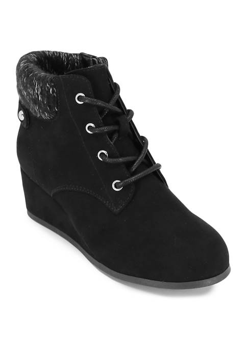 ABS Youth/Toddler Girls Lace Up Wedge Booties