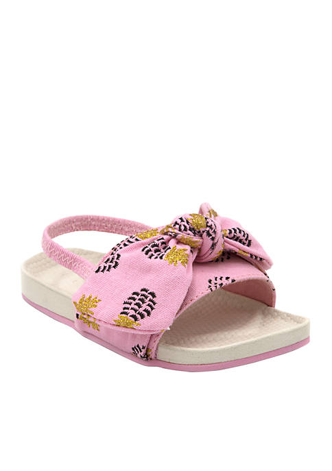 Sugar Lil Pineapple Knot Slide Shoe