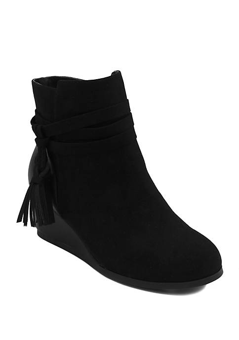 Youth Girls Molasses Wedge Booties