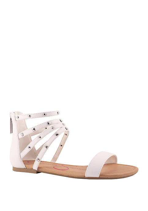 Jessica Simpson Zip Up Flat Sandals