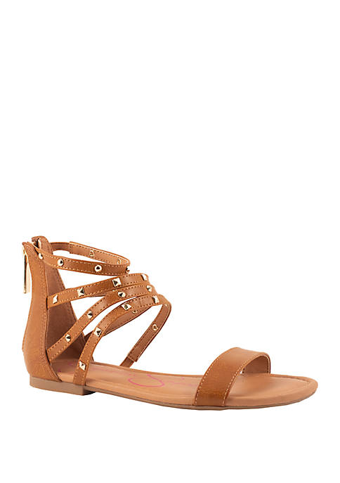 Jessica Simpson Youth Girls Spring Flat Sandals