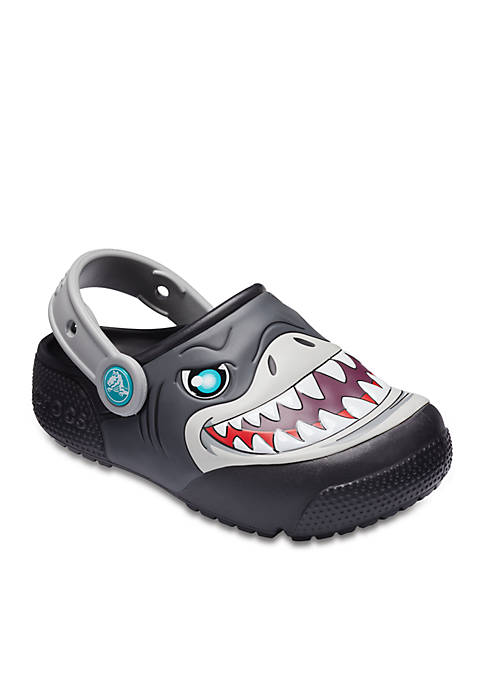 Crocs Fun Lab Lights Shark Clogs