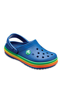 Girl's Rainbow Band Clog - Baby/Toddler/Youth