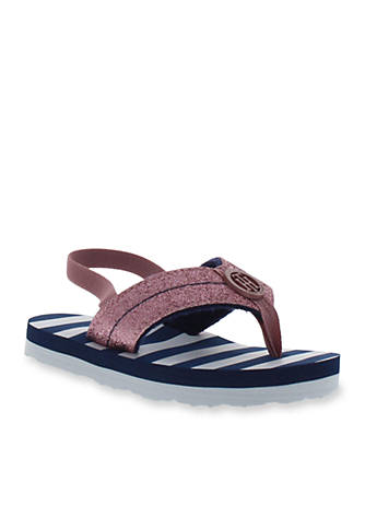 Tommy Hilfiger MIRROR SPARKLE BEACH - T-bar sandals - blue 64myL796e