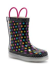 Diva Dot LED Boot - Girl Toddler/Youth Sizes