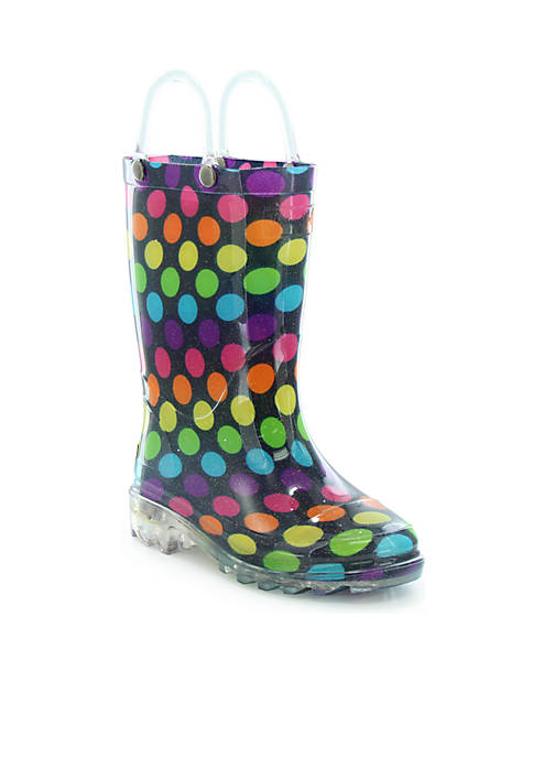 Western Chief Boots Darling Dot Lighted Rain Boots Chief af55e6