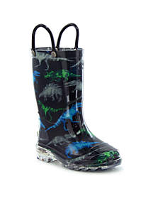 Western Chief Dinosaur Friends Lighted Rain Boots