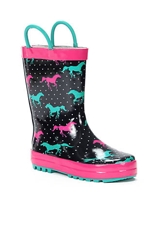 6935f24eddb3 Western Chief Horse Sprint Rain Boot - Girl Infant Toddler Youth 8 ...