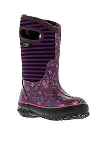 Classic Flower Stripe Boot - Girl Infant/Toddler/Youth Sizes 7 - 6 - Online Only