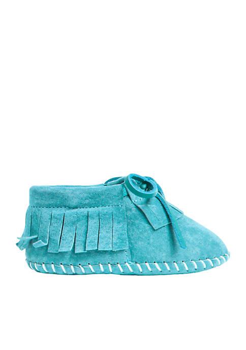 LAMO Footwear Baby Girls Fringe Moccasin