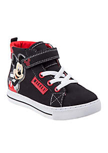 Toddler Boy's Mickey Mouse High Top Canvas Sneaker