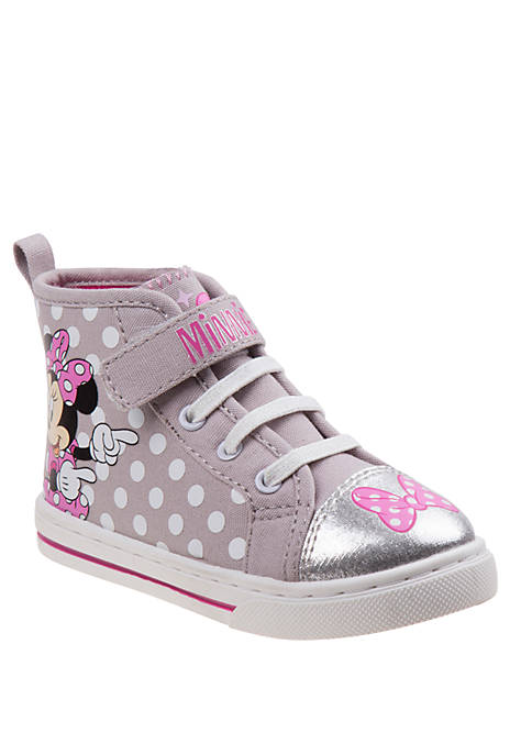 Josmo Toddler/Youth Girls Disney Minnie Mouse Canvas Sneakers