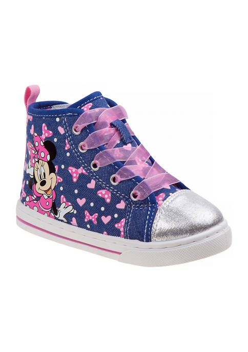 Disney® Toddler Girls Minnie Mouse High Top Sneakers