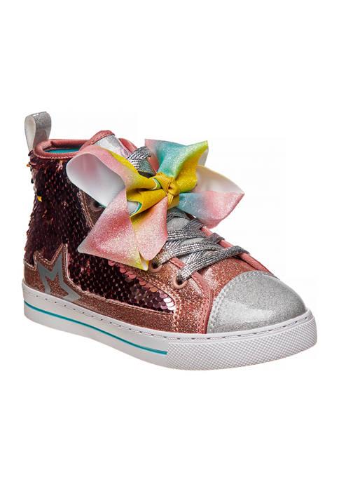 Nickelodeon™ Youth Girls Jojo Siwa Hi-Top Canvas Sneakers