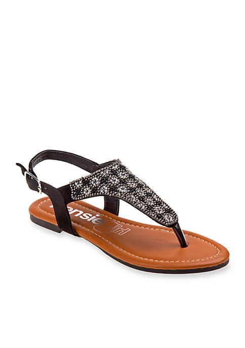 Kensie Girl Girls Beaded Thong Sandals