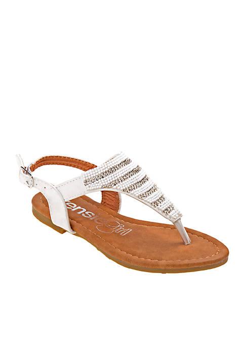 Kensie Girl Girls Embroidered Thong Sandal