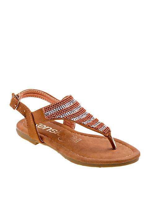 611cb40695e Kensie Girl Girls Embroidered Thong Sandal