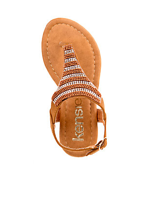 9fb6fb429 Kensie Girl Girl s Embroidered Thong Sandal - Toddler Youth