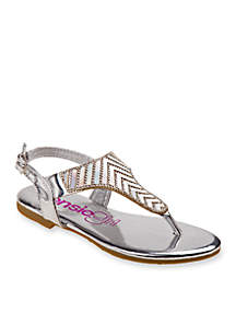 Girl's Holographic Thong Sandals - Toddler/Youth