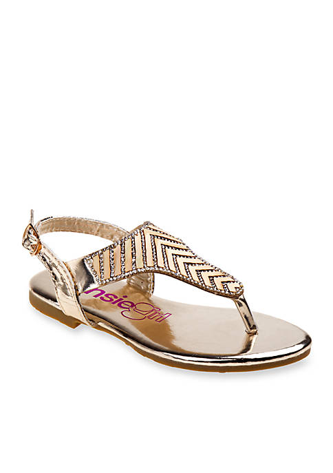 Kensie Girl Girls Holographic Thong Sandals