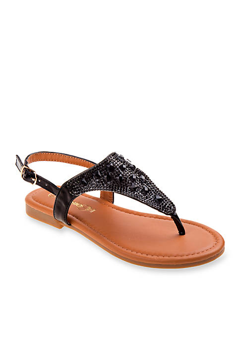 Kensie Girl Girls Studded Thong Sandals