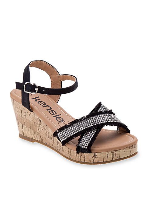 Kensie Girl Girls Cork Wedge Sandals