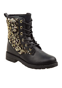 Toddler/ Youth Girl's Zipper Combat Boot