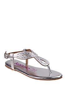 507b46add81 Kensie Girl Toddler  Youth Girls Rhinestone Ballerina Flat · Kensie Girl  Youth Girls Open Toe Bow Sandals