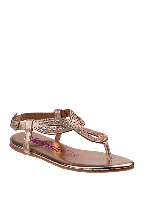 Kensie Girl Youth Girls Open Toe Bow Sandals