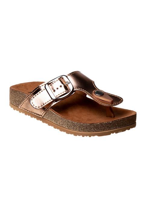 Kensie Girl Toddler/Youth Girls Flip Flop Sandals
