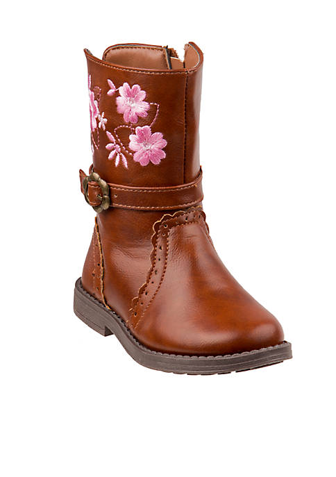 Toddler Girls Buckle Mid-Calf Boots