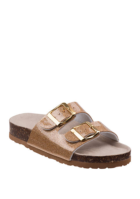 Youth Girls Glitter Cork Sandals