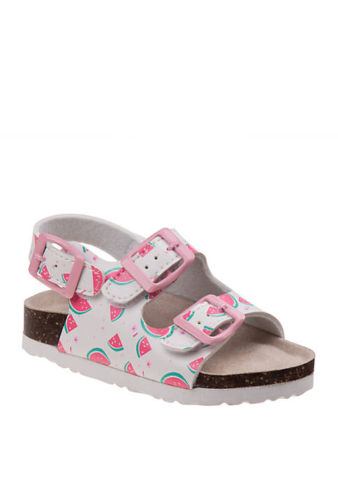 Laura Ashley Toddler Girls Buckle Sandals