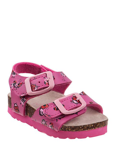 Laura Ashley Toddler Girls Buckle Sandals