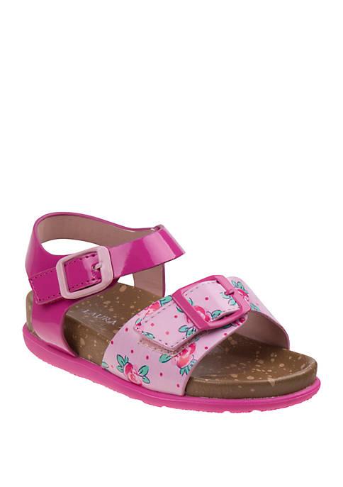 Toddler Girls Flower Cork Sandals