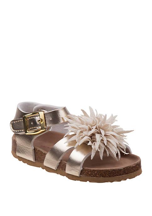 Laura Ashley Toddler Girls Flower Sandals