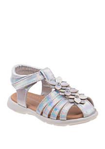 e366ebaaaef8 ... Laura Ashley Toddler/Youth Girls Flower Sandals