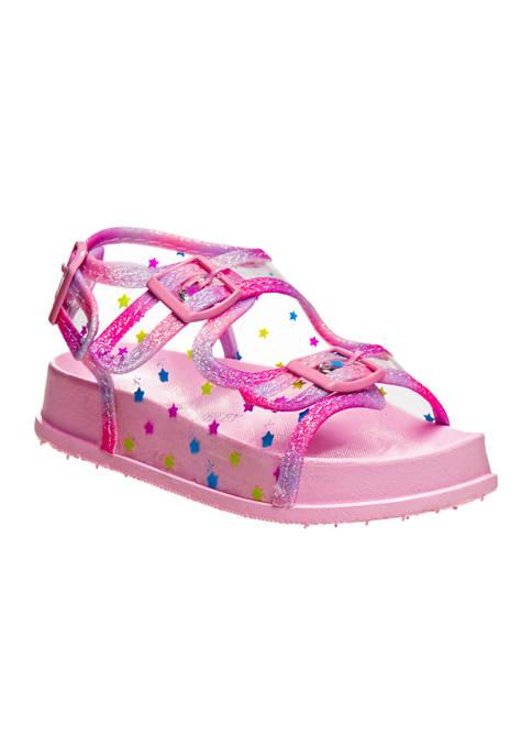 Toddler Girls Footbed Buckle Sandals