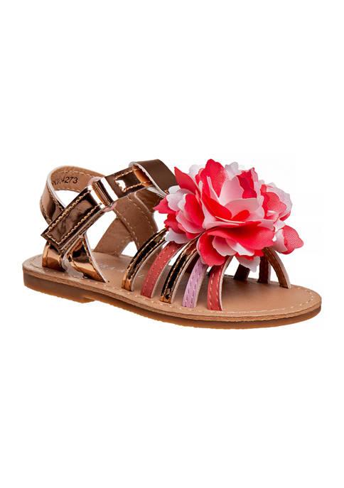 Toddler Girls T-Strap Flat Sandals