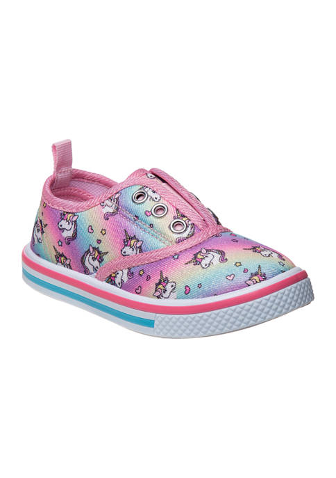 Laura Ashley Toddler Girls Canvas Slip-On Shoes