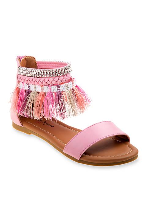Girls Fringe Sandals - Toddler/Youth